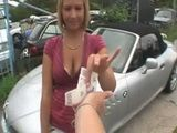 Street Whore Gives Her Ass Just For One Free Ride In This Beautiful Car