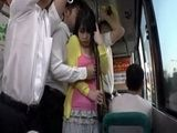 Poor Japanese Girl Groped And Fucked In A Bus Full Of People