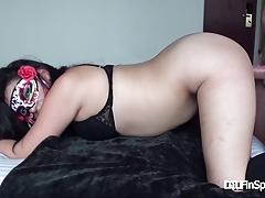Thrust Inside CIRSE! Latina newcomer - her FIRST porno.