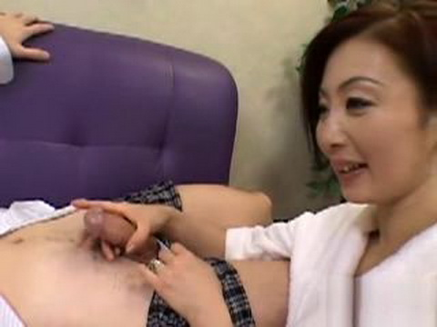 Japanese Housewife Masturbates With Her Husbands Friend and Her Son Sees Her