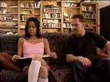 Filthy Stepdad Will Teach Skinny Asian Teen Something She Cant Learn From Books