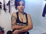 Latina Native showing tits