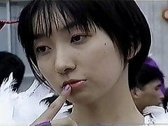 Japanese cosplay girl as Morrigan from Darkstalkers