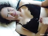 Asian Girlfriend gets accidental cumshot in her eye!