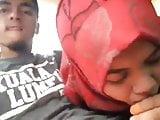 Hijabi deepthroat