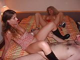Submissive 19yo teen offered by milf