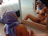Indonesia Muslim Jilbab girl naked show