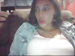 Webcam big boob girl shows everything