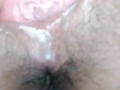 Masterbating deep in pussy