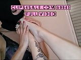 Subgirl sucks my feet and I fuck her hole with my toes