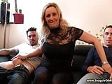 Jacquie and Michel - blonde milf in pantyhose