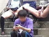 Japanese pee piss flash exhib public outdoor 01