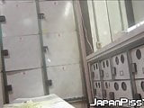 Cute Japanese ladies filmed pissing with voyeur cam