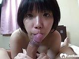 Hairy Asian enjoys a hardcore shagging session