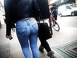 French Arab Beurette Girl - Ass in Jeans