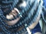 Road head from black teen
