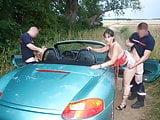 Amateur lesbians caught by fireman in car