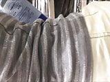 voyear milf white jeans ass