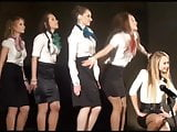 Russian Dance Teens In Satin Skirts And Pantyhose