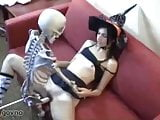 skeleton fucks young preoccupied whore witch