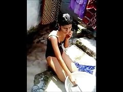 madurai L.P.N schoolhing girl bathing