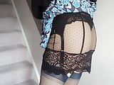 Sexy slip under work dress.