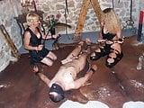 2 dominas and their anal slave