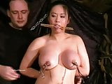 Busty asian bdsm and needle tortures of Tigerr Juggs in