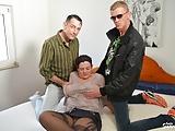 AmateurEuro -Hot BBW MILF Lea Luestern Takes Two Hard Cocks