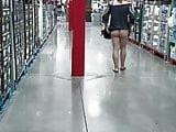Flashing no panties at Costco